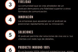 Infografía. Las 10 ventajas de hacer un podcast corporativo.