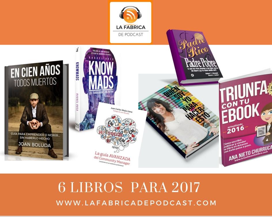 6 Libros recomendados para el 2017